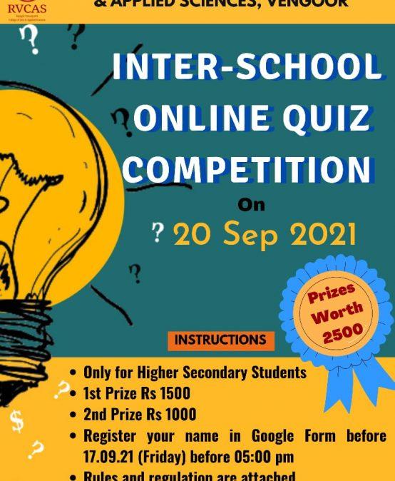Inter School Online Quiz Competition